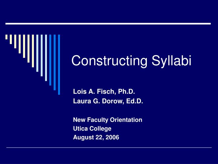 constructing syllabi n.