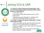 joining ccx car