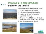 planning for a greener future solar on the landfill