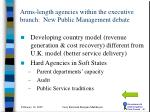 arms length agencies within the executive branch new public management debate