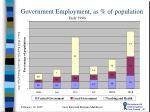 government employment as of population