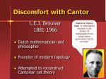 discomfort with cantor1