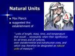 natural units