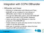 integration with ccp4i dbhandler