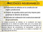 nulidades insubsanables