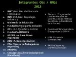 integrantes ogs ongs 2013
