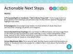 actionable next steps1