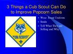 3 things a cub scout can do to improve popcorn sales