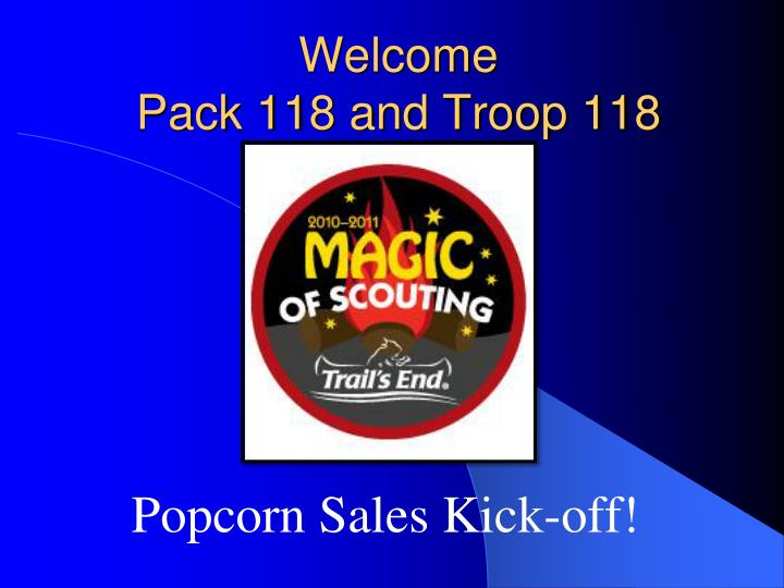 welcome pack 118 and troop 118 n.