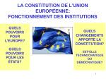 la constitution de l union europ enne fonctionnement des institutions