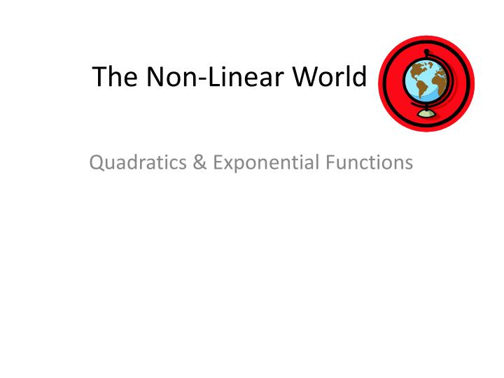 the non linear world n.