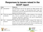 responses to issues raised in the scof report