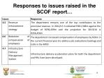 responses to issues raised in the scof report1
