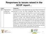 responses to issues raised in the scof report2