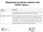 responses to issues raised in the scof report4