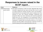 responses to issues raised in the scof report5