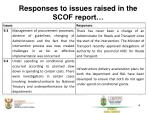 responses to issues raised in the scof report6