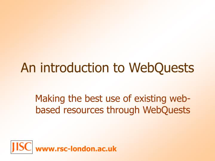 an introduction to webquests n.