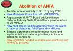 abolition of anta