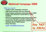 national campaign 2005