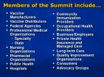 members of the summit include