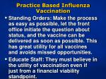 practice based influenza vaccination