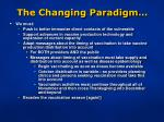 the changing paradigm