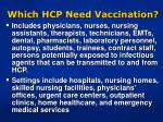which hcp need vaccination