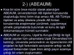 2 abeaum