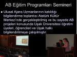 ab e itim programlar semineri