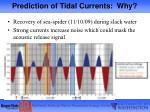 prediction of tidal currents why1