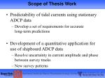 scope of thesis work