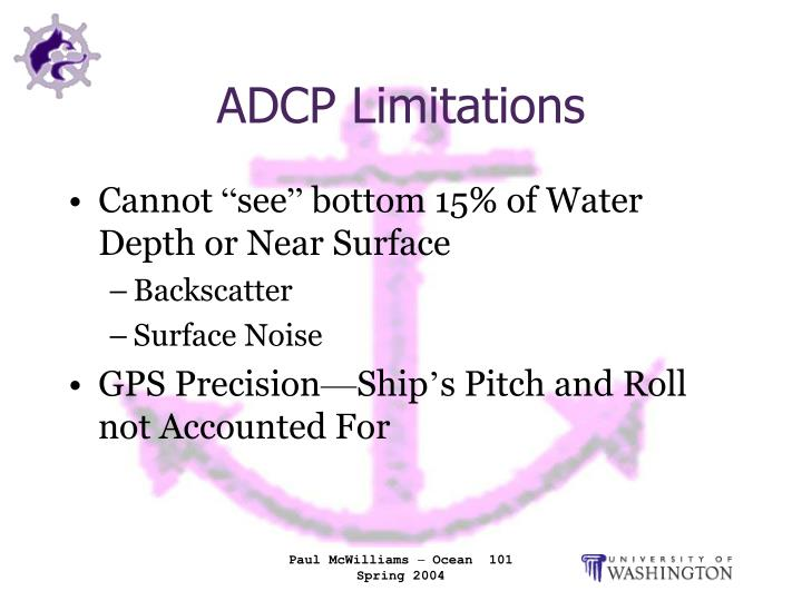 ADCP Limitations