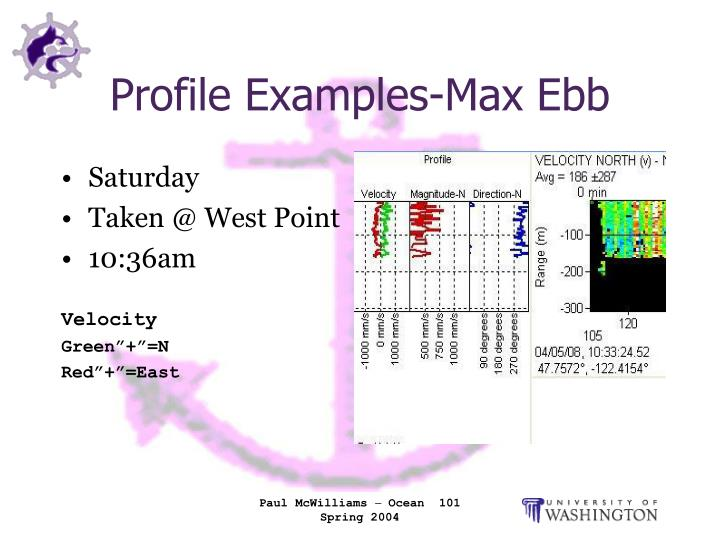 Profile Examples-Max Ebb