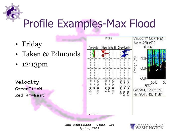 Profile Examples-Max Flood