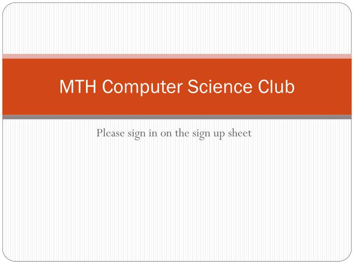 mth computer science club n.