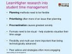 learnhigher research into student time management