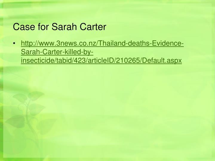 Case for Sarah Carter