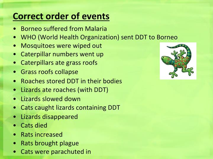 Correct order of events