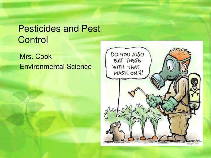 pesticides and pest control n.