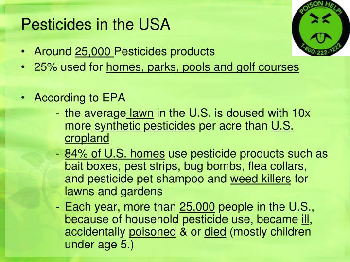 Pesticides in the USA