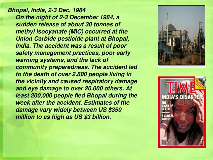 Bhopal, India, 2-3 Dec. 1984