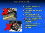 hand tools should