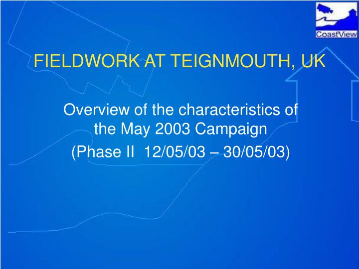 fieldwork at teignmouth uk n.