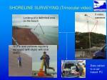 shoreline surveying trinocular video