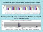 precipita o do m s de janeiro para as bacias do estado de sergipe