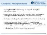 corruption perception index i