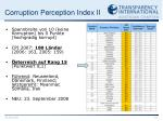 corruption perception index ii