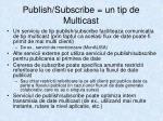publish subscribe un tip de multicast