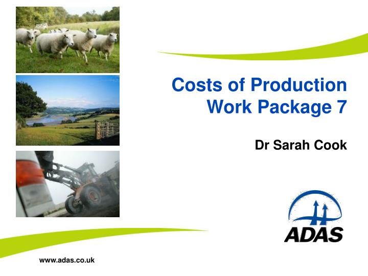 costs of production work package 7 n.